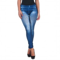 LEGGING AZUL SATINADO