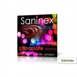PRESERVATIVO LISO SABOR CHOCOLATE SANINEX