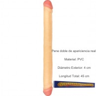 Pene doble penetracion 45 cm Flesh